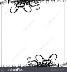 Swirls Templates Templates A White Background With A Black Swirls Bordered Frame