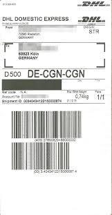Kundenmeinungen (873) zu dhl paketversanddienst. Dhl Express Label Page 1 Line 17qq Com