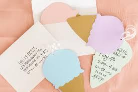 diy ice cream cone invitations
