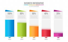 Columns Bar Chart Comparison Table Infographic Vector