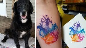 Tetování Podle Psí Tlapky Celoživotní Památka Na Vašeho Miláčka