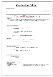 Mechanical Engineering Resume Format Best Resume Format Mechanical Magnificent Mechanical Fresher Resume Format