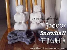 diy indoor snowball fight gift