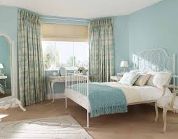 country white bedroom furniture. Fascinating Ocean Blue Country Bedroom Furniture With White Metal Bed And Floral Curtains A