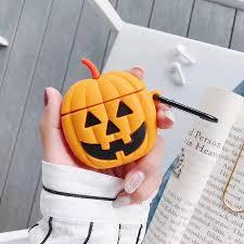 <b>Halloween</b> AirPods Apple Cover Creative Silicone Pumpkin <b>Cartoon</b> ...