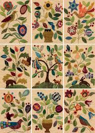 Appliqué amateur? Go pro with easy wool appliqué (+ fabric ... & Wool-applique quilt blocks from My Enchanted Garden Adamdwight.com
