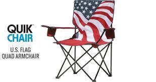 quik chair u s flag quad armchair