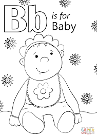 Small Picture Letter B is for Baby coloring page Free Printable Coloring Pages