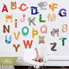 alphabet l and stick wall sticker