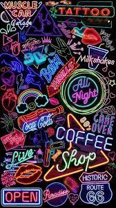 Neon wallpaper, Aesthetic iphone ...