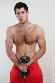 Hairy naked young man