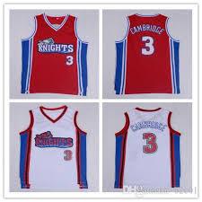 Men S Cambridge Jersey 3 Like Mike La Knights Movie Basketball Jerseys White Red Stiched S Xxl
