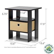 Table In Bedroom Amazoncom Furinno 2 11157ex End Table Bedroom Night Stand