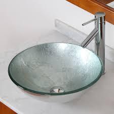 elite 1308 2659c modern tempered glass bathroom vessel sink with silver wrinkles bathroom sinks stone sink kitchen sink stainless steelsink bathroom
