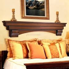 auburn distressed cherry finished fireplace shelf by pearl mantels