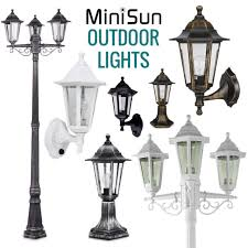 minisun vintage outdoor wall porch lantern patio light weatherproof lamp post