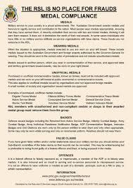 Medal Compliance Rsl Sa Branch