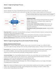Top Down Design Definition Summaries Introducing Engineering Design Week 1 11 Enb150