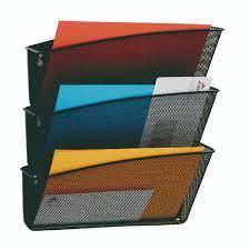 mesh wall file set 3 pockets black
