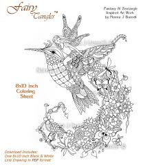 Small Picture New Fairy Tangle Adult Coloring Page by Norma J Burnell https