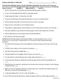 Semicolons And Colons Worksheets Commas Semicolons And Colons Review Worksheet By Teacher In The Rye
