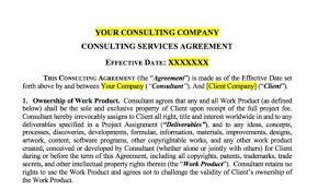 A Simple Consulting Services Agreement — Embedded Artistry