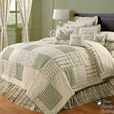 Best 25+ Traditional bed sets ideas on Pinterest | Traditional ... & Country Green Ivory Floral Patchwork Twin Queen Cal King Sized Quilt  Bedding Set | eBay $154 Adamdwight.com