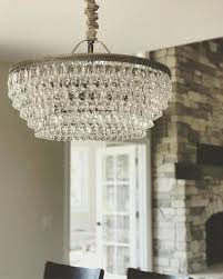 clarissa crystal drop round chandelier glass rectangular large knock off pottery barn glass drop chandelier chandeliers design lighting ideas clarissa