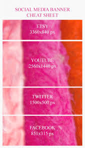 social a banner cheat sheet learn what size to make your etsy you