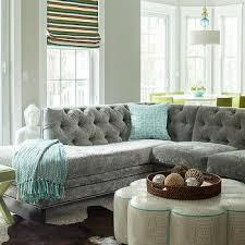 grey velvet sectional. Gray Velvet Sectional Grey -