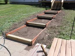 building stairs on a slope
