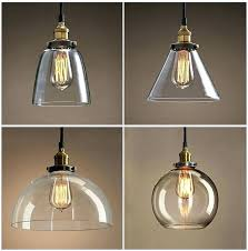 pendant light replacement shades replacement clear glass