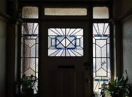 i recently repaired this stunning art deco door panel for lee green glass panels like this create a distinctive street style and luckily there are still