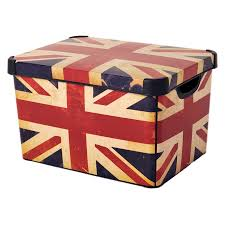 Decorative Storage Boxes For Closets Contemporary Style Decoration with British Flag Decorative Storage 3
