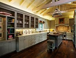 Kitchen:Elegant French Kitchen Design With Vintage Stools And Marble Kitchen  Countertop Classic French Kitchen