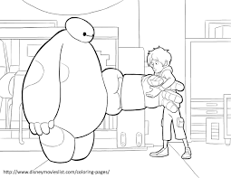 Baymax Suit Up Big Hero 6 Coloring Pages Disney Movies List