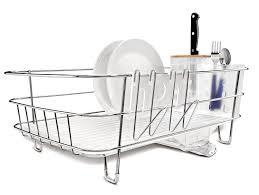 com simplehuman slim wire frame dish rack stainless steel dish racks