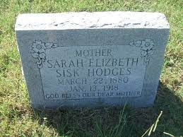 "Sarah Elizabeth ""Bettie"" Riggs Sisk-Hodges (1880-1918) - Find A Grave  Memorial"
