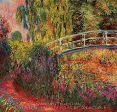 claude monet water lily pond water irises oil painting reion