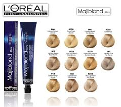 Loreal Majiblond Ultra Hi Lift Hair Color Chart Majiblond