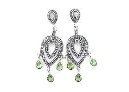 peridot chandelier earrings mj15657