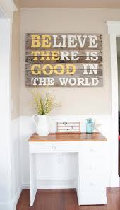 inspirational quote wood pallet art diy project