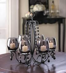 black hanging crystal chandelier candelabra candle holder