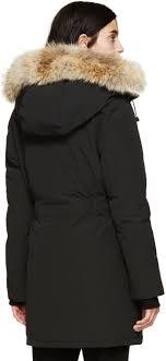 ... greece women parka lyst canada goose black trillium parka in black  979fe a8ef1 ...