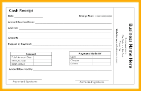 Cash Receipt Template Enchanting Cheque Received Receipt Format Cash Payment Amount Sample In Word
