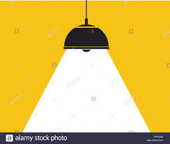 Vector Ceiling Lamp White Light Background As Spotlight Graphic