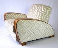 modern deco furniture. Pair Of Art Déco Lounge Chairs 1920s, Andrew Martin Silk Fabric Modern Deco Furniture