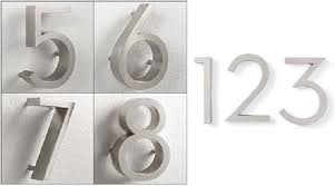 h20cm 3d 304 brushed stainless steel house numbers house number rvs 0 9 or