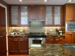 image of frameless glass kitchen cabinet doors