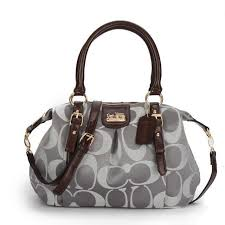 Coach Madison Kelsey In Signature Medium Grey Satchels ATM Sale Clearance  Outlet